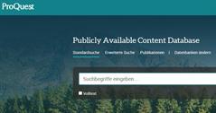 Screenshot PAC Database
