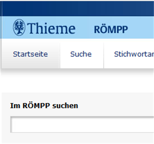 search in the database Römpp